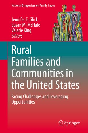 Rural families book cover in red.