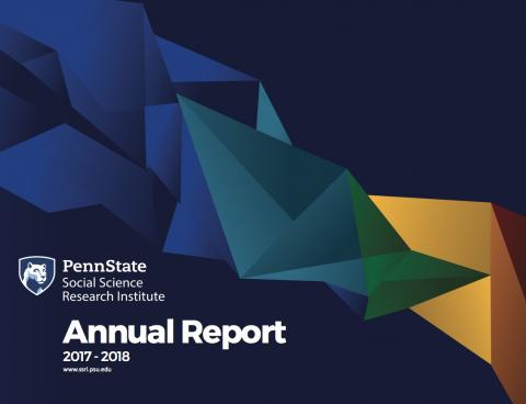 Photo of the cover of the SSRI 2017-2018 Annual Report.