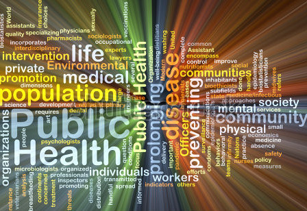 Population health word cloud